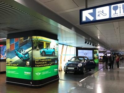 Campagna Europcar MINI per promuovere noleggio della Cabrio