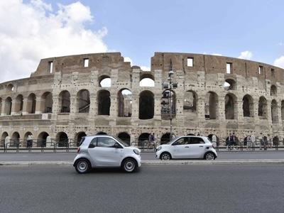 car2go Mobility Sharing Partner della Roma calcio