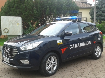 A Hyundai ix35 Fuel Cell delivered to the Arms of Carabinieri