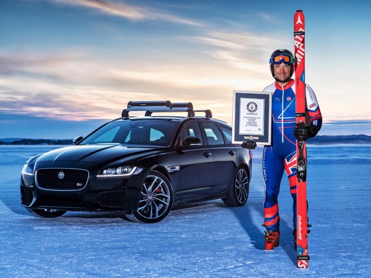 Jaguar record sul ghiaccio