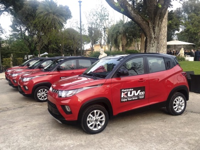 The first units of KUV100 were delivered to the Mahindra network