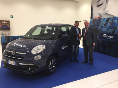 Italgas competition: the Fiat 500L Natural Power to a 26 year old customer
