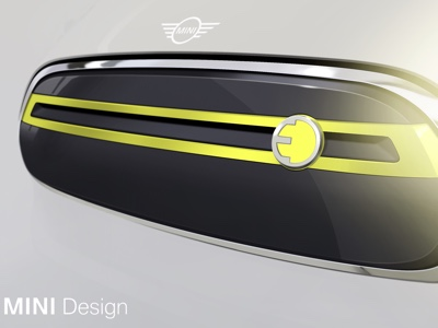 First official sketch of the future MINI EV