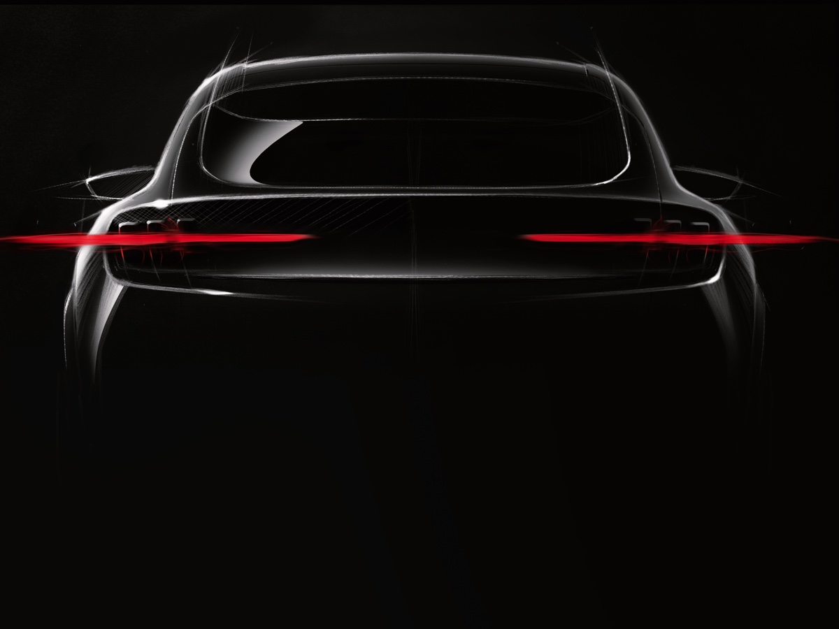 Ford Mustang EV teaser