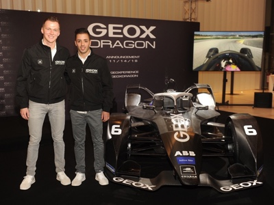 The new Formula E car of the Dragon Racing team was presented in Milan