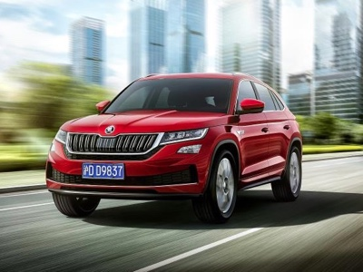 Preview for the Škoda Kodiaq GT at the Guangzhou Chinese Auto Show.
