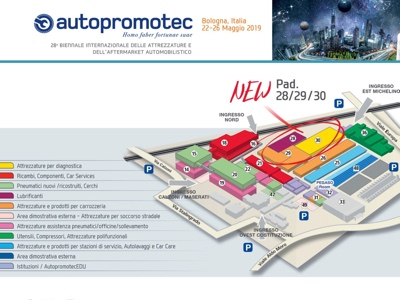 The exhibition map of Autopromotec 2019 is redefined
