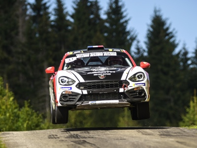 The Abarth 124 rally protagonist of the European Rally Championship 2019