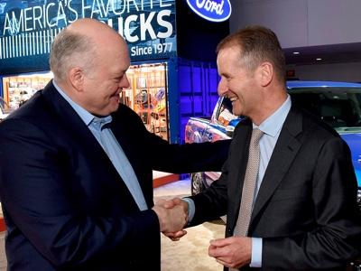 Annunciata a Detroit l'alleanza globale nei veicoli commerciali tra il Gruppo VW e Ford