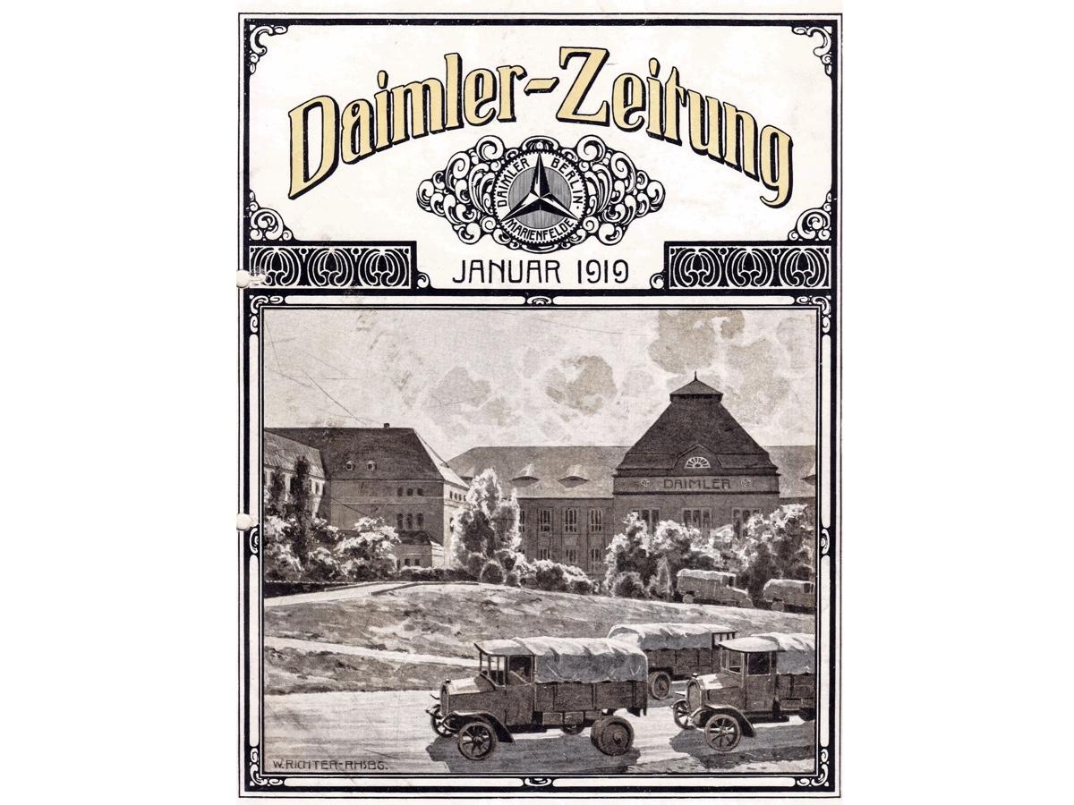 Daimler Daimler-Zeitung gennaio 1919