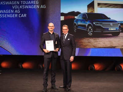 "La Volkswagen Touareg vince il ""Gold"" ai German Design Award 2019"