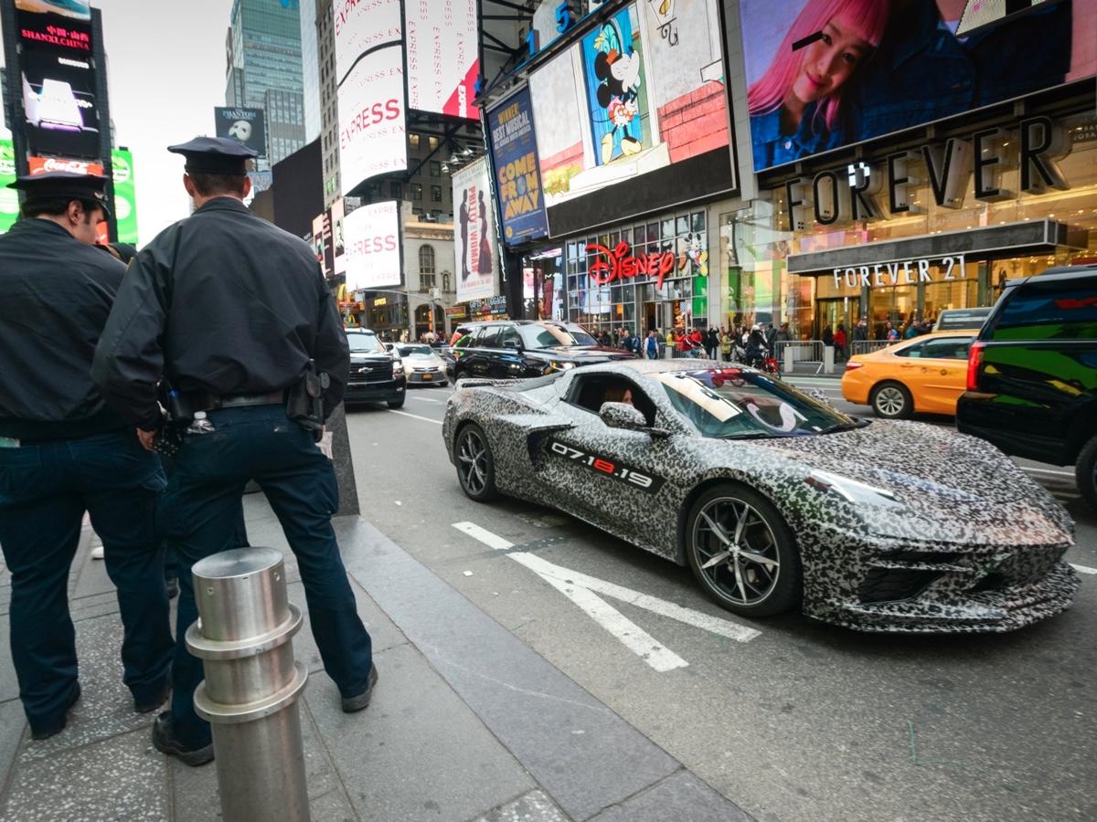 Chevrolet Corvette di nuova generazione per le strade di New York