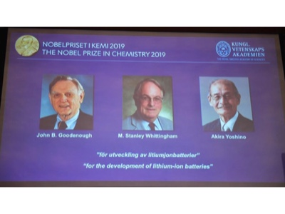 The Nobel Prize in Chemistry was awarded to a trio of pioneers of the lithium battery