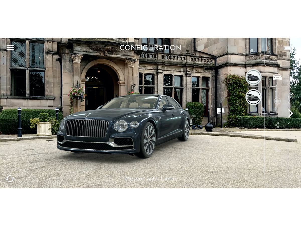 Bentley app in realtà aumentata