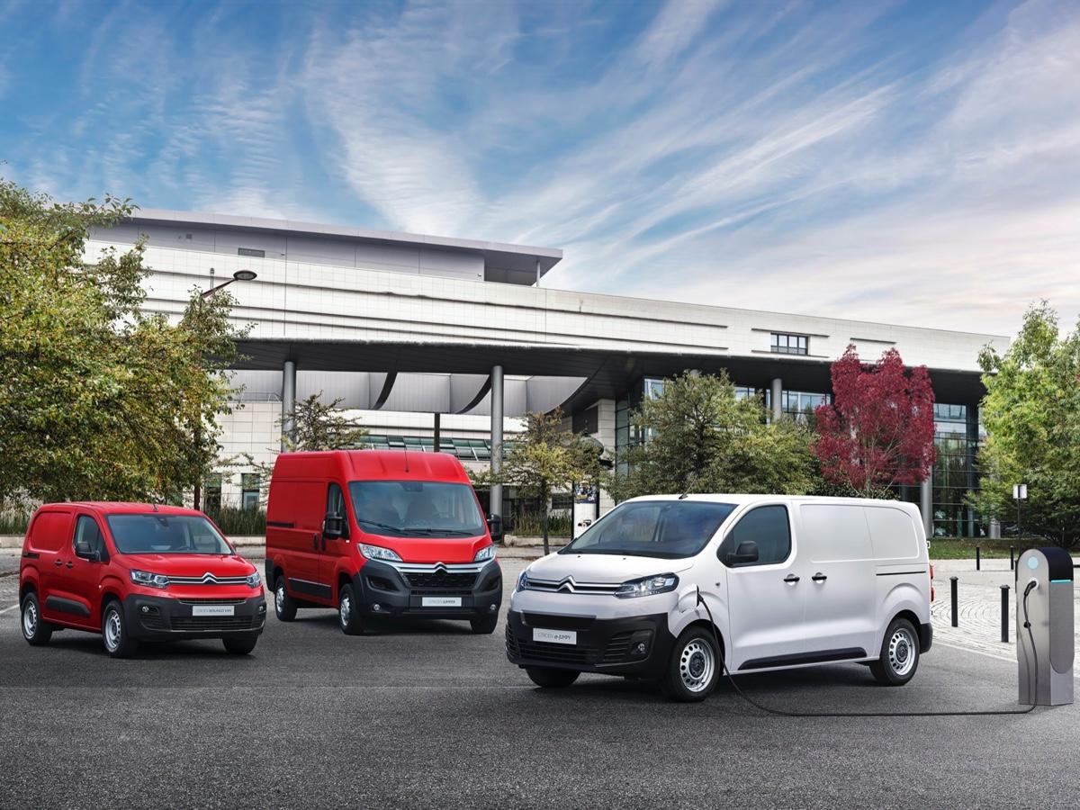 Citroën offensiva elettrica gamma veicoli commerciali