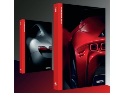 Two covers for 2019 Ferrari Yearbook