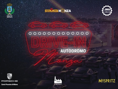 Drive-in Monza in Autodromo, tre weekend di cinema sotto le stelle