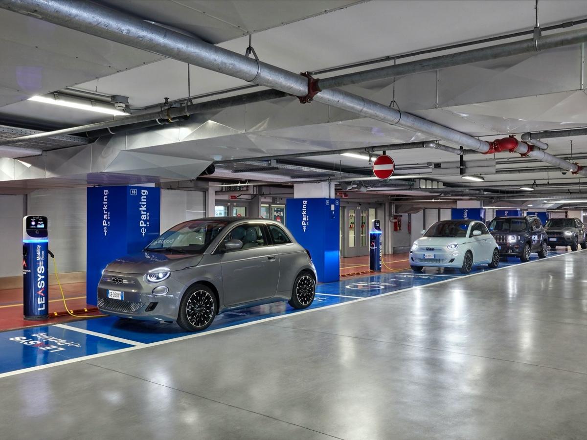 Leasys stalli parcheggio con ricarica per auto elettriche a Torino Porta Susa