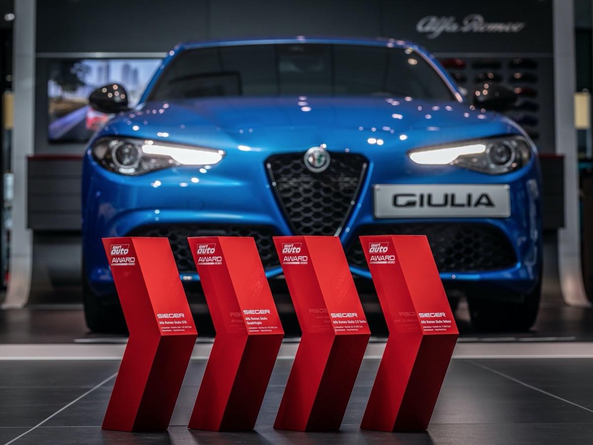 "Alfa Romeo Giulia premiata agli ""Sport Auto Awards"""
