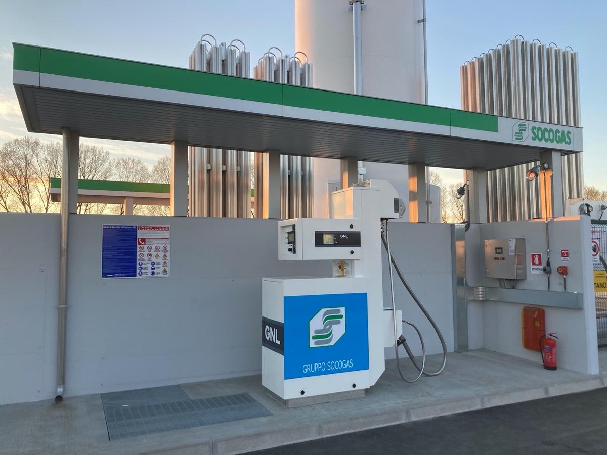 Socogas nuovo distributore di LNG e L-CNG a Fidenza