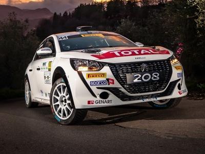Al via con il Rallye Sanremo il Peugeot Competition 208 Rally Cup TOP 2021