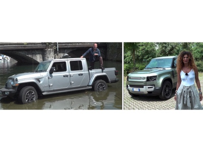 Land Rover Defender 90, Jeep Gladiator e Opel Crossland a Ruote in Pista