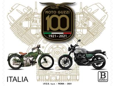 Emesso dal Mise il francobollo celebrativo del centenario Moto Guzzi
