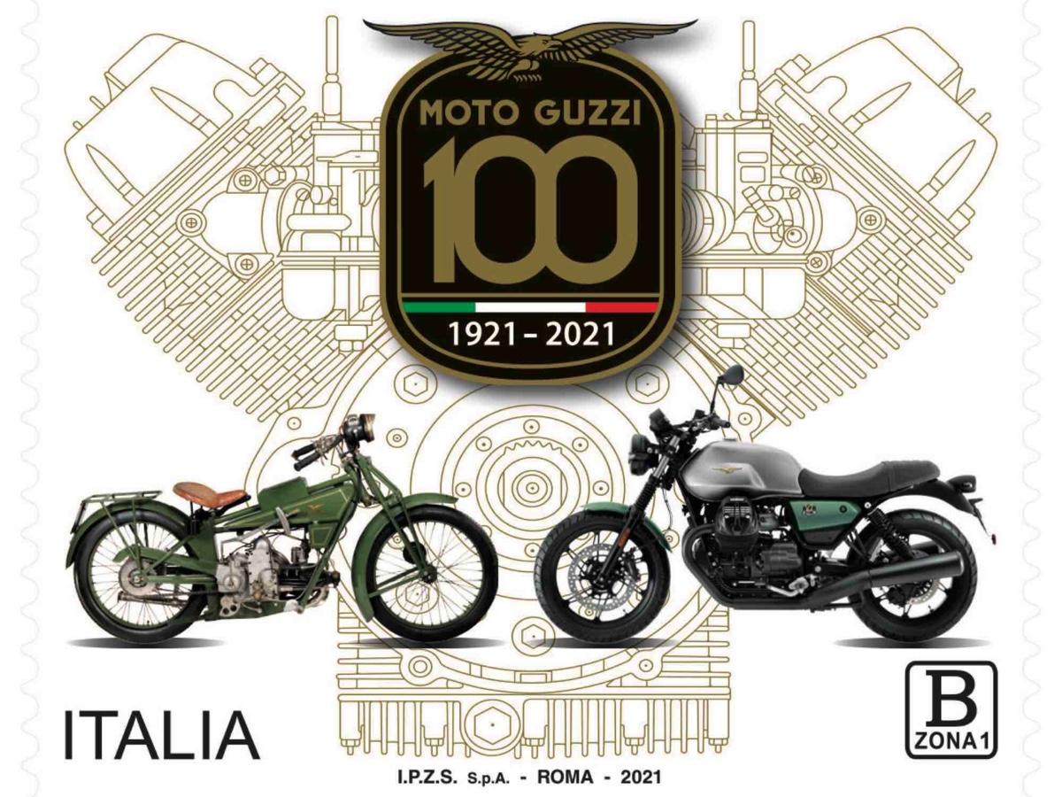 Moto Guzzi francobollo celebrativo centenario
